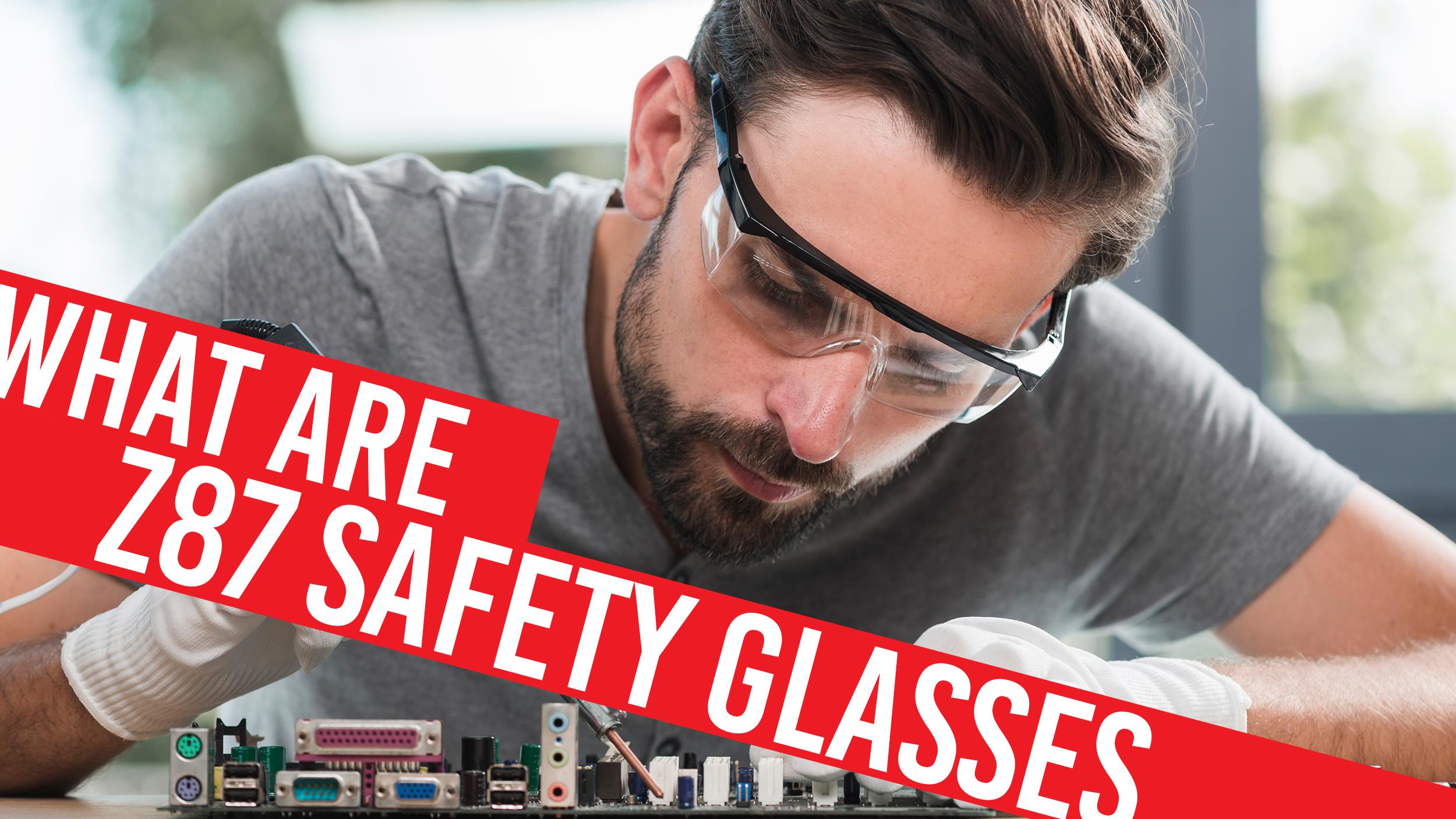 man in Z87 safety glasses
