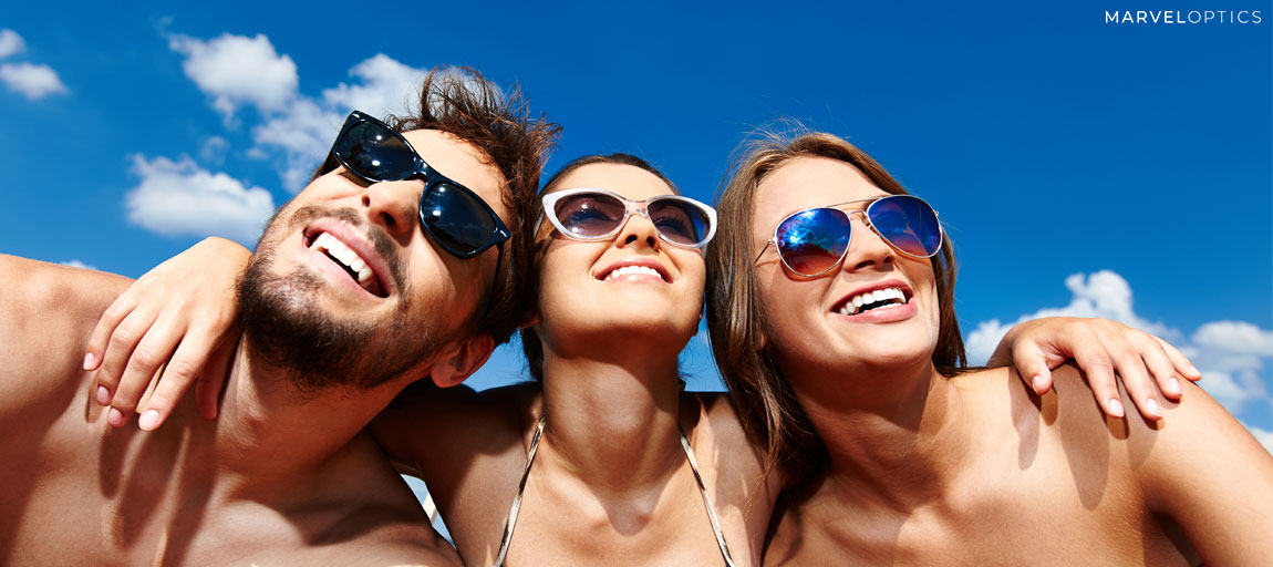 friends wearing sunglasses