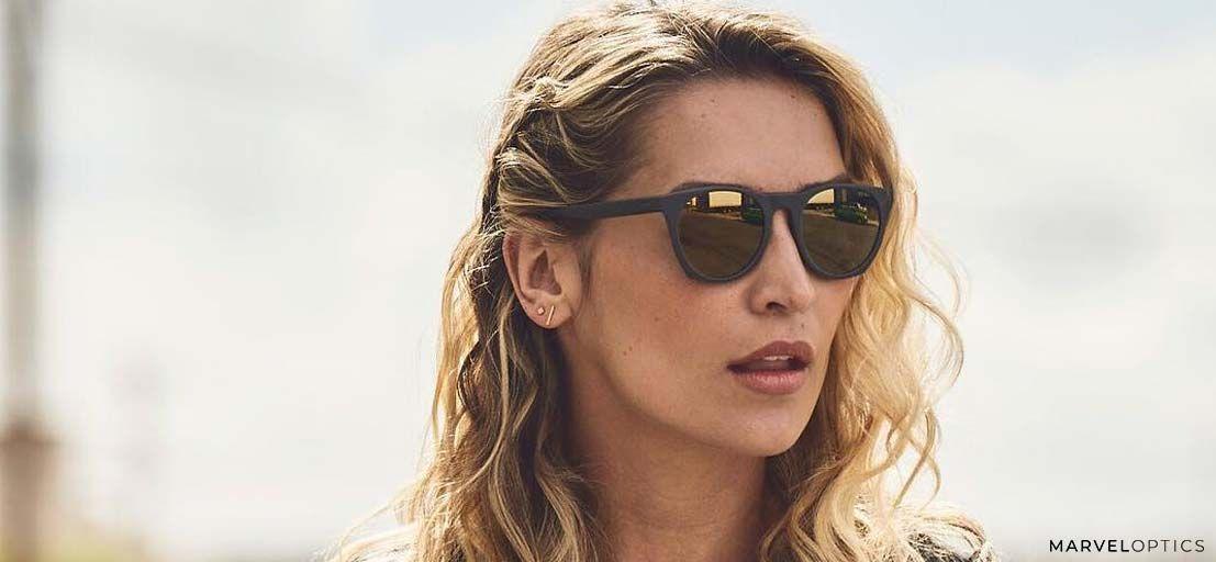 woman wearing Nike glasses