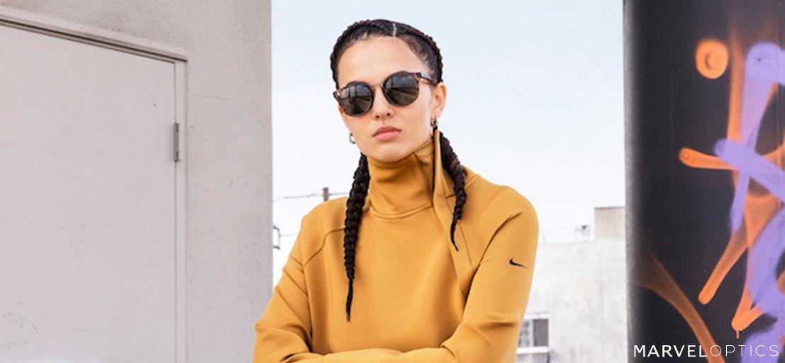 woman wearing Nike Womens Sunglasses