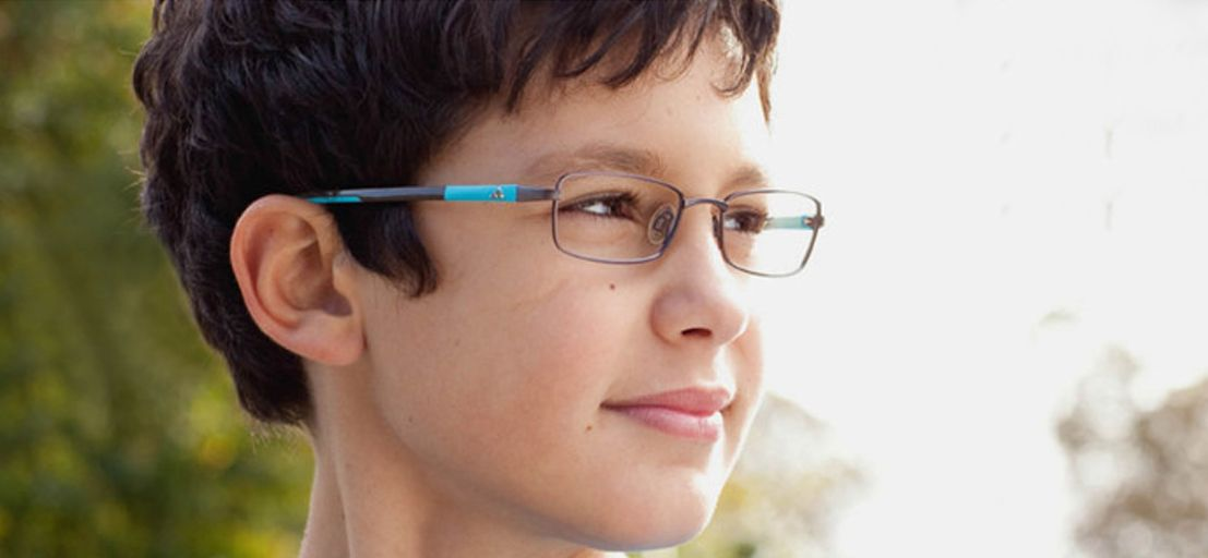 Kid Wearing Adidas Glasses