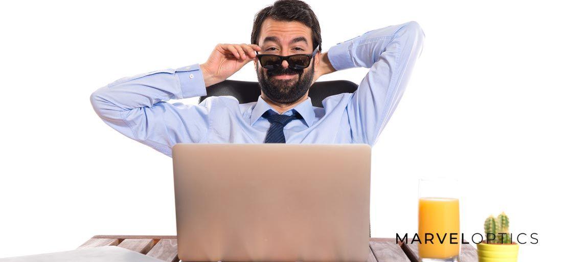 Man Wearing Prescription Sunglasses
